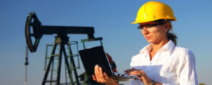 female oil and gas worker