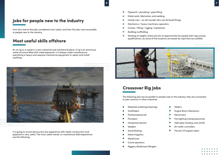 useful skills offshore oil gas