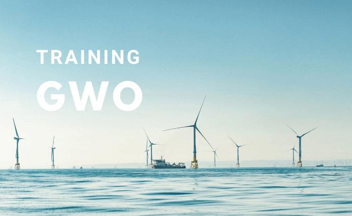 vessel working next to wind turbines